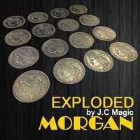 Exploted Morgan Magic Tricks multiple Coin apareciendo Magia mago escenario accesorios ilusión accesorios Gimmick