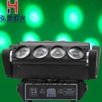 Hongyi etapa Iluminación araña cabeza móvil 8x10 W rgbw 4in1 cree LED etapa DJ disco laser Show luz de sonido