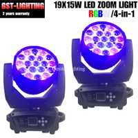 2 unids/lote 19x12 W LED viga luz principal móvil de la etapa profesional