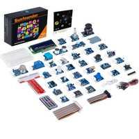 SunFounder 37 Módulos en 1 caja de Kit Sensor V2.0 para Raspberry Pi 3 modelo B, modelo B +, 3B 2B B + RPi 1 Modelo B, modelo B +, Raspberry-Pi Kit de iniciación Raspberry Pi 3