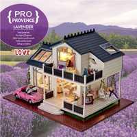 Regalos de la nueva marca de casas de muñecas casa de muñecas de madera para casa de muñecas juguete muebles en miniatura artesanía envío gratis A032