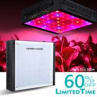 MarsHydro ECO 300 W LED luz para crecer de interior crece la tienda de las plantas de cultivo hidropónico de espectro completo creciente lámpara de siembra a la cosecha