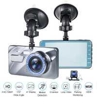 2018 nuevo Dual de la lente del coche DVR Cámara Dash Cam 1080 p 4,0