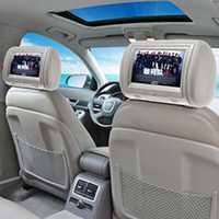 9 pulgadas Digital del coche de la pantalla de Monitor de reposacabezas Universal coche reposacabezas reproductor de DVD con USB SD MP5 VCD CD MP3 MP4 JPEG TV 1 piezas