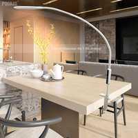 Long Bras Lampe de Table Clip Bureau LED Lampe de Bureau Télécommande Eye-protégée Lampe Pour Chambre LED Lumière 5 -niveau Luminosité et Couleur