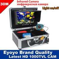 Eyoyo marca nuevo 30 m 1000TVL buscador de peces bajo el agua de hielo Pesca de Mar 7