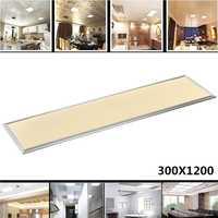 Rectángulo llevó la luz del Panel 1200X300 42 W cálido frío blanco AC110-240V hogar Oficina Decoración de marco de aluminio de placa de techo lámpara