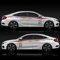 Pegatina deportiva para coche TAIYAO para Honda CIVIC accesorios y calcomanías autoadhesivas
