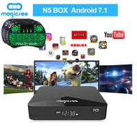 N5 SmartTV Box Android TV Box Amlogic S905X Android 7,1 2 GB RAM 16 GB ROM 2,4G 5G wiFi 100 M BT4.1 Set Top Box apoyo I8 teclado