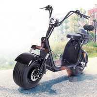 Scooter Eléctrico para adultos Citycoco Nocturn neumático de grasa E-Bike 1000 W batería recargable automática hidráulica doble disco asiento doble