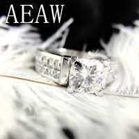 2 carats 7.5mm taille coussin salut couleur princesse Moissanite fiançailles & mariage laboratoire bague en diamant Double anneau Halo en argent ou 10 K