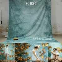 CustomTye morir muselina boda telón de fondo de fotografía de tela de algodón de la fotografía para el estudio de la foto de Navidad familia F188
