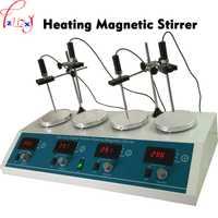 Agitador magnético con calefacción máquina HJ-4A 4 en 1 Digital calefacción estable agitador magnético 110/220 V 1 unid