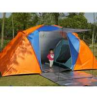 5-8 personne grande tente de Camping Double couche étanche deux chambres tente de voyage pour famille fête voyage pêche 420x220x175CM