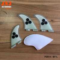 Envío Gratis calidad FCS II G7 L tabla de surf aletas fcs 2 de gran tamaño propulsor fin hecha de fibra de vidrio y de nido de abeja