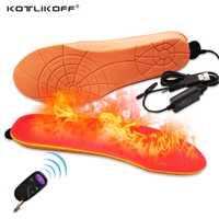 KOTLIKOFF eléctrico plantilla Batt USB cálido invierno zapatos botas Pad con Control remoto de espuma de memoria plantillas climatizada zapatos de mujer Zapatos
