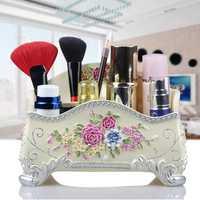 Cajas de almacenamiento de cosméticos Almacenamiento de baño y organización organizador de maquillaje cajas de almacenamiento de dormitorio cajas de almacenamiento de resina respetuosas con el medio ambiente