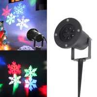 Impermeable IP65 Proyector láser Snowflake LED etapa luz fiesta de Navidad paisaje luz al aire libre impermeable jardín lámpara de césped