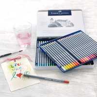 FABER CASTELL 12/24/36/48 color soluble en agua lápiz de color arte diseño color pintado a mano pluma