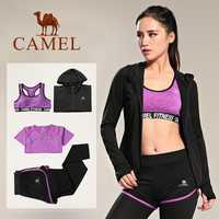 De las mujeres traje de Yoga suave transpirable ropa de Yoga deportes Bra + Leggings + Yoga camisas S-XXL 3 colores para el deporte de las mujeres