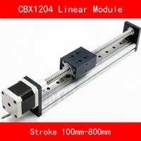 Guía lineal módulo mesa con 57 motor paso a paso y tornillo de la bola sfu1204 carrera 100-800mm para CNC 3d impresora kit brazo robótico