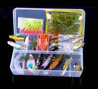 90 piezas pesca de agua salada señuelos Minnow VIB Rana gusano cebos Camarón Bionic Artificial Crankbait Swimbait PRO BEROS