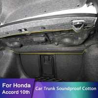 Pour Honda Accord 10th 2018 2019 coffre de voiture insonorisé coton tapis autocollant Protection 1 pièces/ensemble