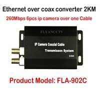 Nuevo mejor HD ip cctv sistema Ethernet sobre coaxial convertidor 2 km para cámaras IP, IP HD transmisión de video sobre cable coaxial