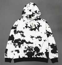 Kpop BTS V mismo negro blanco salpicaduras tinta estampado mujeres sudaderas Corea amantes primavera otoño cálido Harajuku sudaderas con capucha ropa