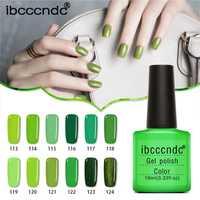 12 unids/lote verde Serie UV Esmaltes gel de uñas lámpara LED gel lacquer gel Vernis semi permanente gel barniz uñas Primer bases superior