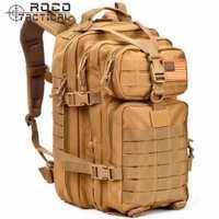 Mochila táctica ROCOTACTICAL 3 P ataque mochila militar Camping senderismo mochila Molle asalto mochila 34L ejército patrulla
