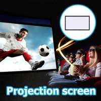 Amzdeal suave plegable portátil 16:9 HD 100 pulgadas pantalla del proyector Fibra cortina de lona para proyector Películas cine en casa al aire libre