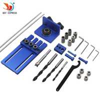 Herramienta de carpintería DIY carpintería Joinery High Precision Dowel Jigs Kit 3 en 1 localizador de perforación 08450A kit de guía de perforación