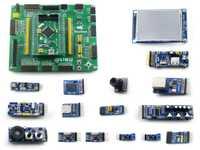 STM32 desarrollo STM32F407VET6/STM32F407VGT6 MCU Open407V-C Evaluation Kit PL2303 USB UART jabalí + 14 Kits accesorios de los módulos