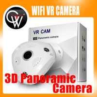1.3MP 960 P 3D VR Cámara WiFi cámara IP fisheye lente SD ranura para tarjeta hd cámaras ir de visión nocturna cámara de seguridad cctv