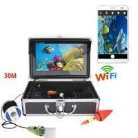 SmartYIBA 10 pulgadas Monitor LED blanco WIFI Visible vídeo pez buscador submarino pesca Detector Cámara hielo mar pesca Cámara