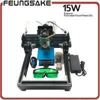 Máquina de grabado láser diy de 15000 MW, 15 W laser_AS-5, máquina de grabado de acero, máquina enrutadora cnc de tallado de acero, juguetes avanzados