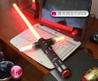 Star Wars 7 espada láser cruz sable láser rojo papel jugar apoyos de los niños al aire libre Noctiluca Juguetes