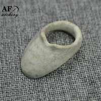 AF arquería anillo de dedo plano clásico con astas de alce Material para la caza tradicional hecho a mano de arquero BZ01