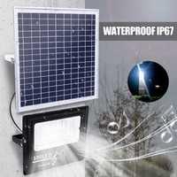 La lámpara al aire libre 50/100/192/300 LED de energía Solar 50 W/100 W/200 W /300 W música Luz de inundación bluetooth altavoz IP67 ahorro de energía resistente al agua