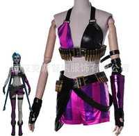 Moda juego LOL Crit Loli Jinx Cosplay trajes Halloween partido Magical Girl uniformes Jinx Original de la piel para las mujeres