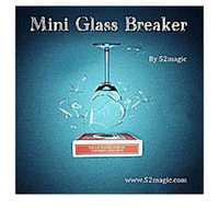 Mini Glass interruptor en control remoto-truco de magia, tarjeta, magia de escenario, mentalismo