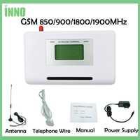 GSM 850/900/1800/1900 MHZ terminal fijo inalámbrico con pantalla LCD apoyo sistema de alarma soluciones de voz clara estable de la señal