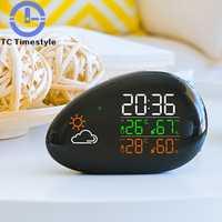 Reloj despertador Digital reloj electrónico tabla despertador niños temperatura y humedad 12 hora o 24 Sistema horas selección