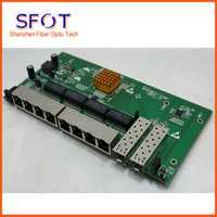 POE interruptor inverso de 8 port completa Gigabit WEB Ethernet gestionado inversa interruptor de poe, con 2 puerto SFP