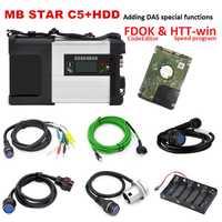 Mb star C5 con HDD V12.2018 software más función especial para MB coche camión bus de diagnóstico MB star C5 sd conexión wifi coches