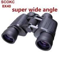 Gran Angular potente binoculares 20x50 Zoom de largo alcance 5000 m profesional telescopio