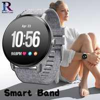 Hombres reloj inteligente V11 inteligente presión arterial Monitor de frecuencia cardíaca deportes impermeable reloj de pulsera mujer SmartWatch para ios y Android