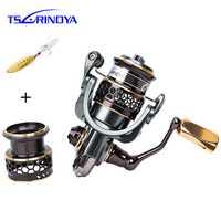 TSURINOYA Jaguar 1000 2000 9 + 1BB moulinet de pêche filature carpe calmar eau salée métal poignée 2 bobines bobine bobine filature bobine Pesca