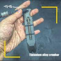 TiTo EDC aleación de titanio palanca multifuncional de titanio palanca abridor al aire libre destornillador herramienta de titanio TC21 palanca